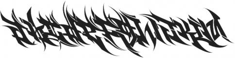 Burner otf (400) Font LOWERCASE