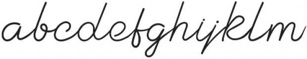 Burning Daylight otf (300) Font LOWERCASE