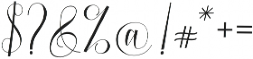 Burnington otf (400) Font OTHER CHARS