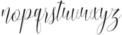 Burnington otf (400) Font LOWERCASE