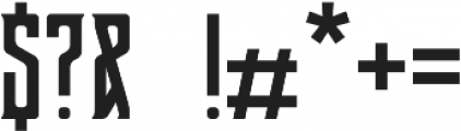 Buron otf (400) Font OTHER CHARS