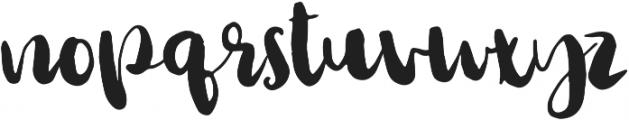 Bursta Brush otf (400) Font LOWERCASE