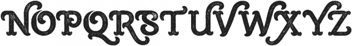 Burton Slab Rough Regular otf (400) Font UPPERCASE