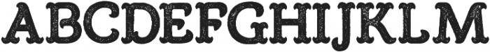 Burton Slab Rough Regular otf (400) Font LOWERCASE