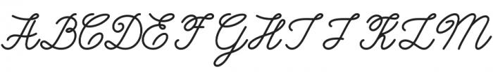 Burtons Script otf (400) Font UPPERCASE