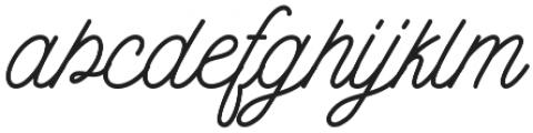 Burtons Script otf (400) Font LOWERCASE