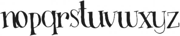 Busker otf (400) Font LOWERCASE