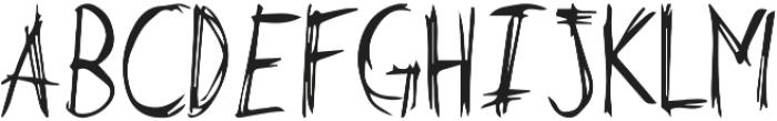 Butch otf (400) Font UPPERCASE