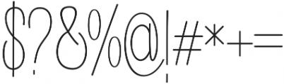 Buttercupline otf (400) Font OTHER CHARS