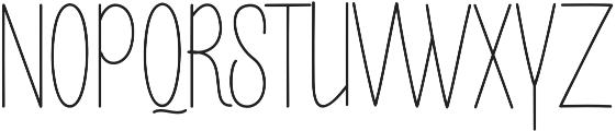 Buttercupline otf (400) Font UPPERCASE