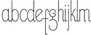 Buttercupline otf (400) Font LOWERCASE