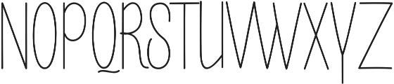 Buttercupline ttf (400) Font UPPERCASE