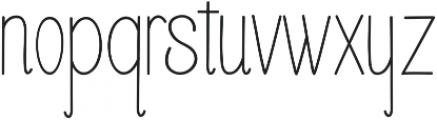 Buttercupline ttf (400) Font LOWERCASE