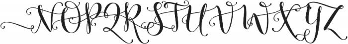 Butterfly Waltz Alt 1 Regular otf (400) Font UPPERCASE