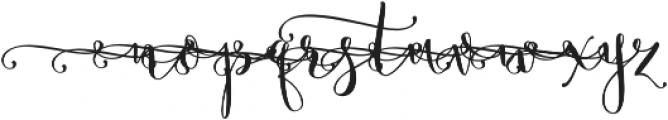 Butterfly Waltz Alt 1 Regular otf (400) Font LOWERCASE