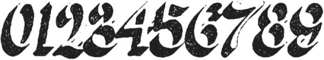 Butternut Rough 3D otf (400) Font OTHER CHARS