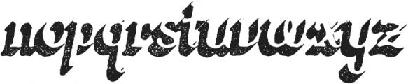 Butternut Rough 3D otf (400) Font LOWERCASE