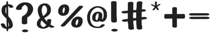 Buxom otf (400) Font OTHER CHARS