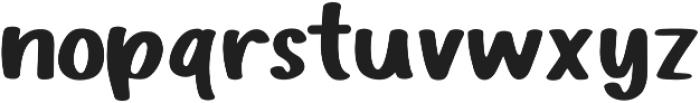 Buxom otf (400) Font LOWERCASE