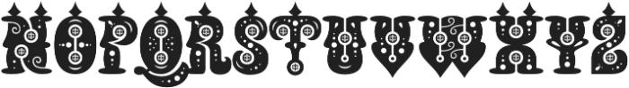 Buxotic Regular otf (400) Font LOWERCASE