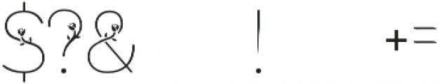 bunga otf (400) Font OTHER CHARS