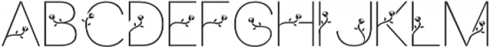 bunga otf (400) Font UPPERCASE