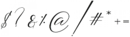 butterriver Regular otf (400) Font OTHER CHARS