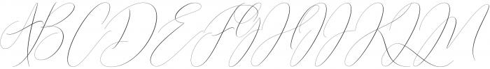 butterriver Regular otf (400) Font UPPERCASE