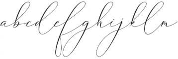 butterriver Regular otf (400) Font LOWERCASE