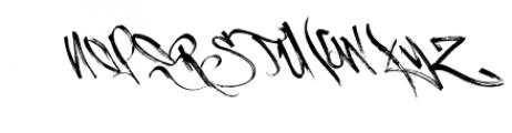 Burnts Marker Typeface Font UPPERCASE