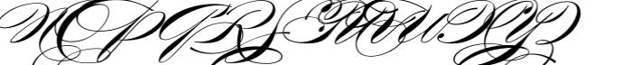 Burgues Script Font UPPERCASE