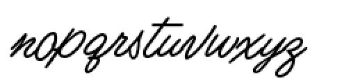 Business Casual Big Cap Alt Regular Font LOWERCASE
