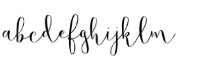 Butterfly Waltz Regular Font LOWERCASE