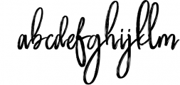 Butter Luchy - Handwritting Brush Font Font LOWERCASE