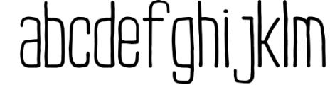 Buxton Font. Font LOWERCASE