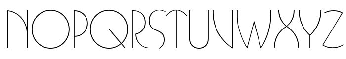 BUFferOpti-Light Font UPPERCASE