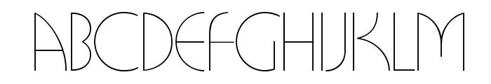 BUFferOpti-Light Font LOWERCASE