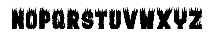 BURNING MAN Font UPPERCASE