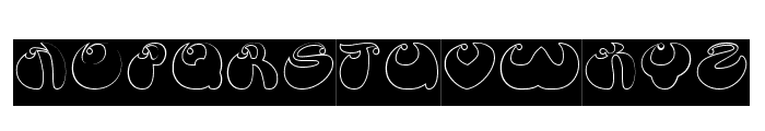 BUTTERFLY-Hollow-Inverse Font UPPERCASE