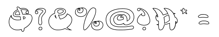 BUTTERFLY-Hollow Font OTHER CHARS