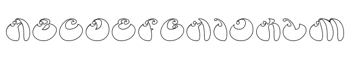 BUTTERFLY-Hollow Font UPPERCASE