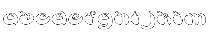 BUTTERFLY-Hollow Font LOWERCASE