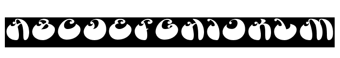 BUTTERFLY-Inverse Font UPPERCASE