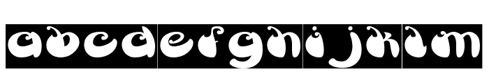 BUTTERFLY-Inverse Font LOWERCASE
