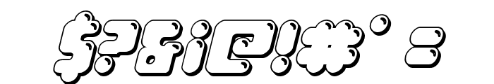 Bubble Butt 3D Italic Font OTHER CHARS