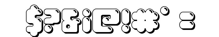 Bubble Butt 3D Regular Font OTHER CHARS