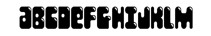 Bubble Butt Condensed Font UPPERCASE