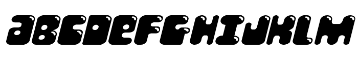 Bubble Butt Expanded Italic Font UPPERCASE