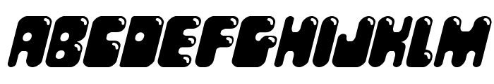 Bubble Butt Italic Font LOWERCASE