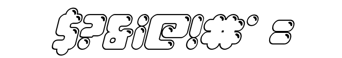 Bubble Butt Outline Italic Font OTHER CHARS